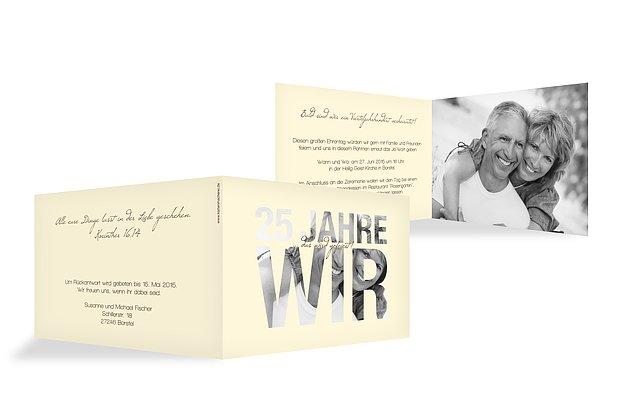 Einladungskarten zur Silberhochzeit – edel & individuell