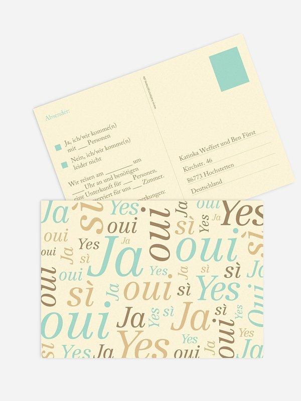 Antwortkarte Hochzeit Sag Ja