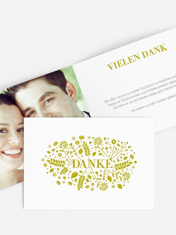 Dankeskarte Hochzeit Blumenliebe