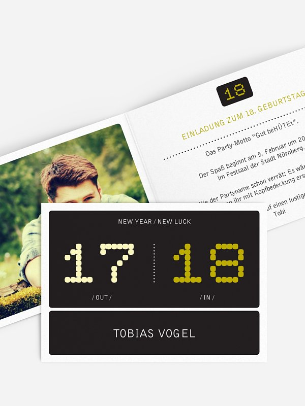 Einladung 18. Geburtstag In & Out