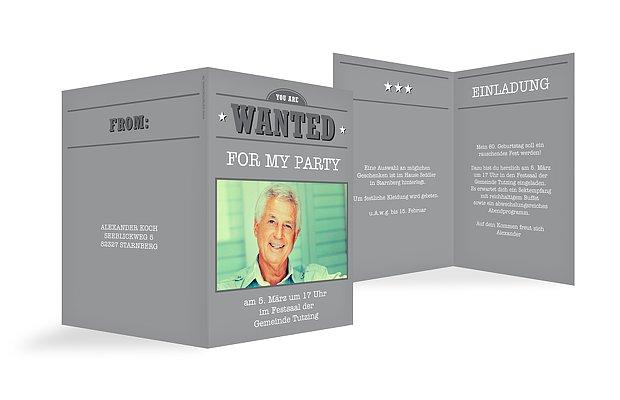 "Geburtstagseinladung ""Wanted"""