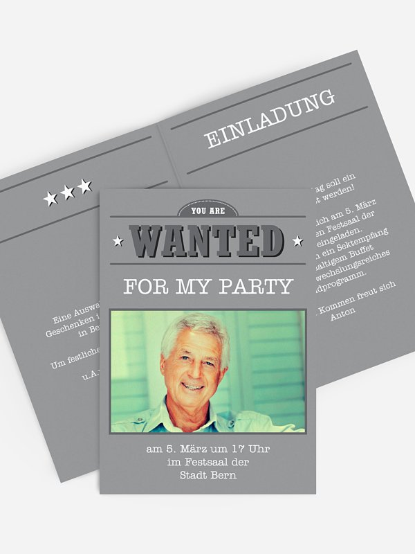Einladung 60. Geburtstag Wanted