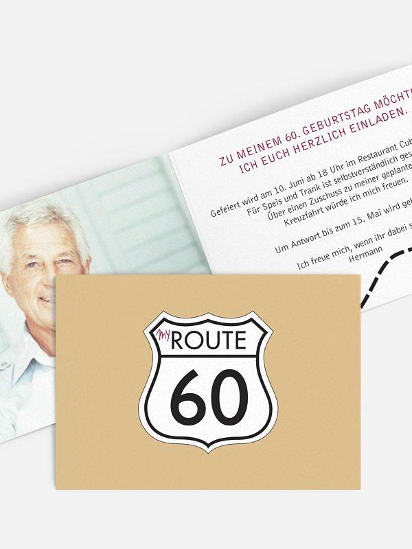 Einladung 60. Geburtstag My Route