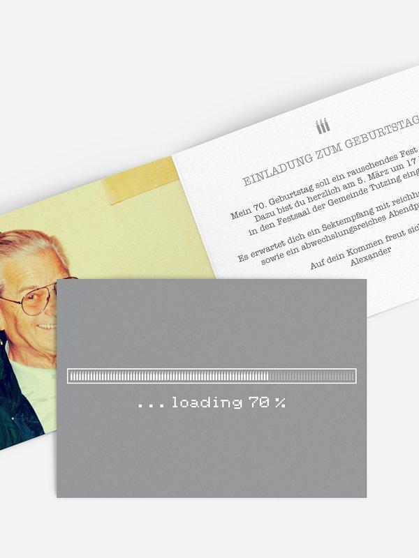 Einladung 70. Geburtstag Loading