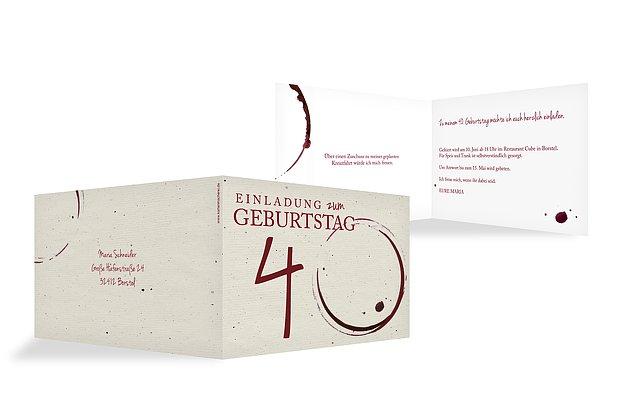 Einladung Zum 40 Geburtstag Einladungskarten Gestalten