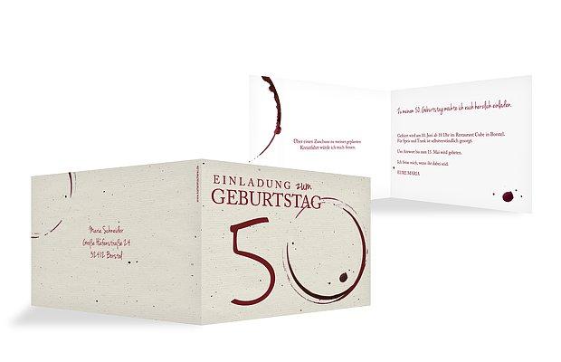 Einladungskarten 50 Geburtstag Edler Tropfen