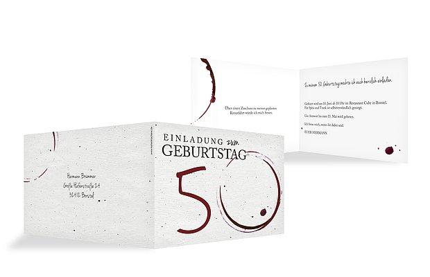 Einladung 50. Geburtstag Edler Tropfen