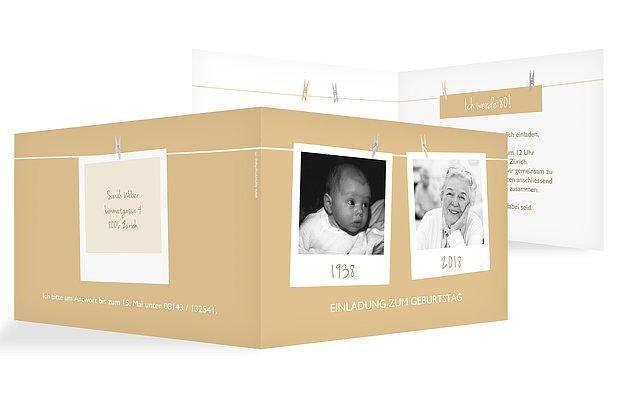 einladungskarten 80 geburtstag fotoleine. Black Bedroom Furniture Sets. Home Design Ideas