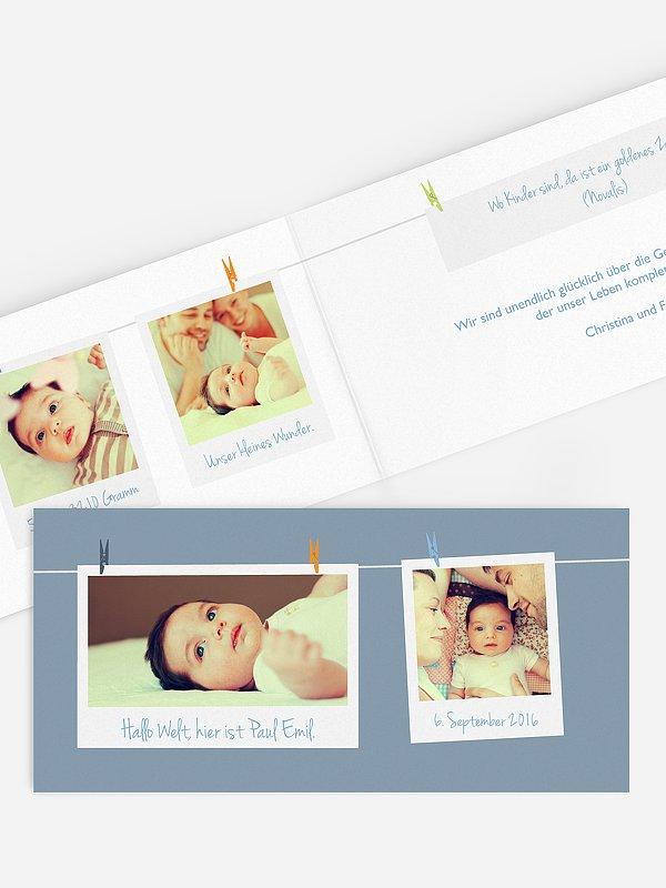 Geburtskarte Fotoleine