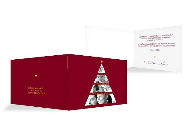 Weihnachtskarte Fotobaum