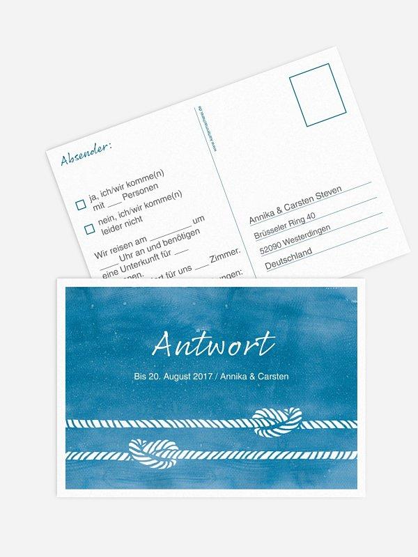Antwortkarte Hochzeit Tying the knot