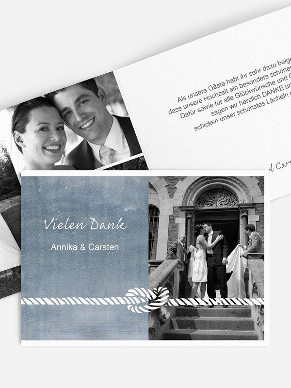 Dankeskarte Hochzeit Tying the knot