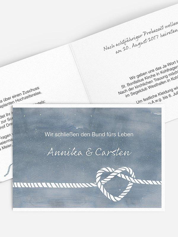 Hochzeitseinladung Tying the knot