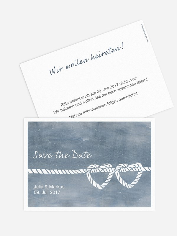 Save-the-Date Karte Tying the knot