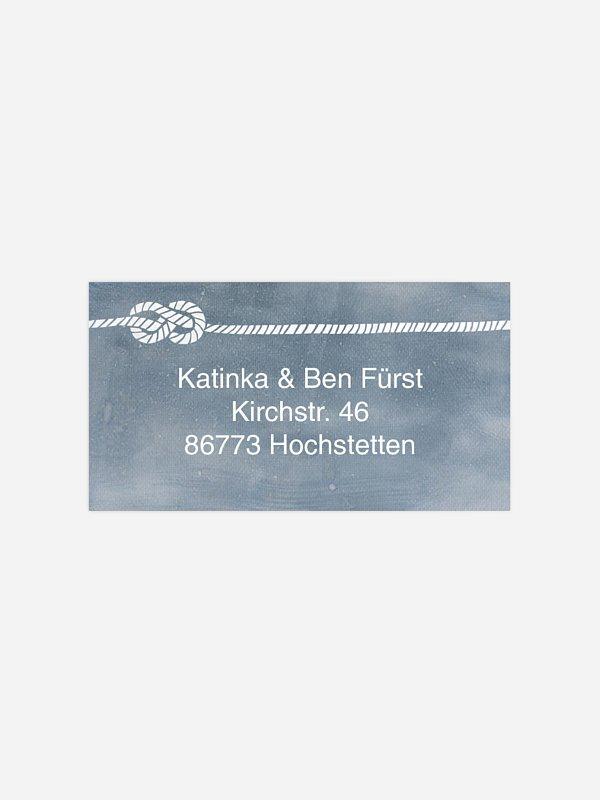 Empfängeraufkleber Hochzeit Tying the knot