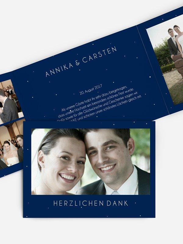 Dankeskarte Hochzeit Sparkle