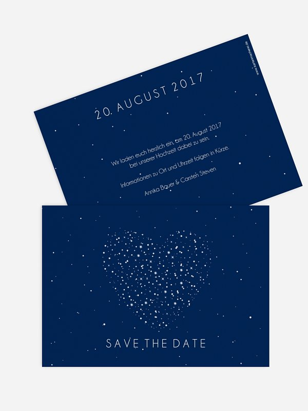 Save-the-Date Karte Sparkle