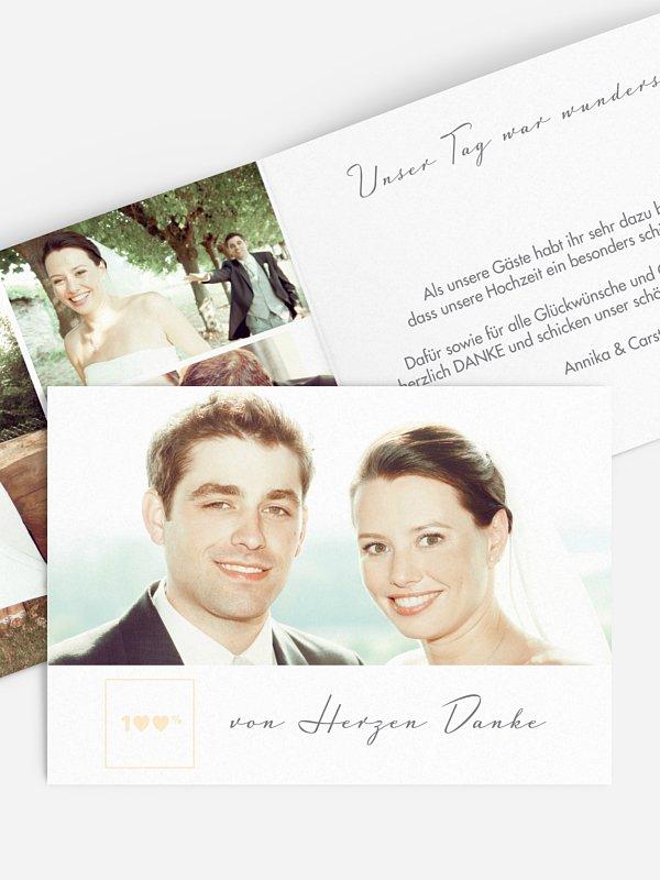 Dankeskarte Hochzeit 100%
