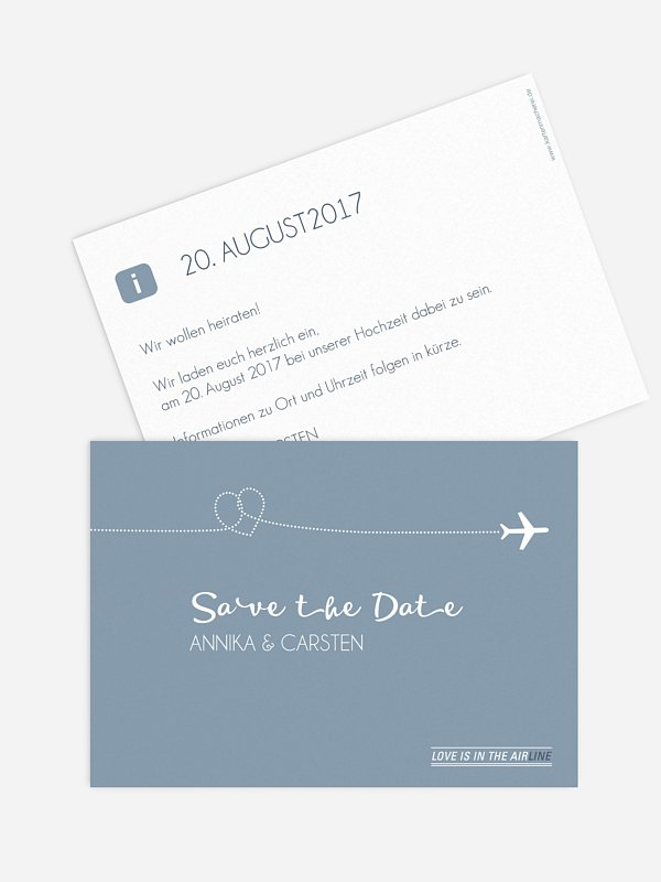 Save-the-Date Karte Love Is In The Air