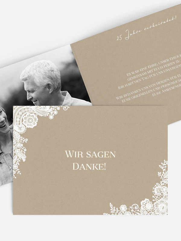 Danksagung zur Goldenen Hochzeit Vintage Lace