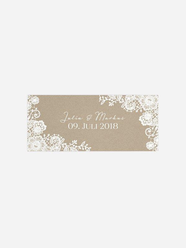 Geschenkaufkleber Hochzeit Vintage Lace