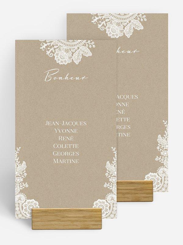 Nom de table mariage Dentelle vintage