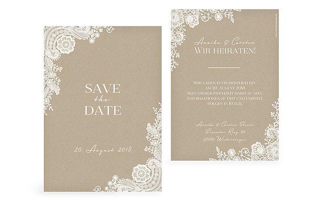 Save The Date Karten Zur Hochzeit Versand In 1 2 Tagen