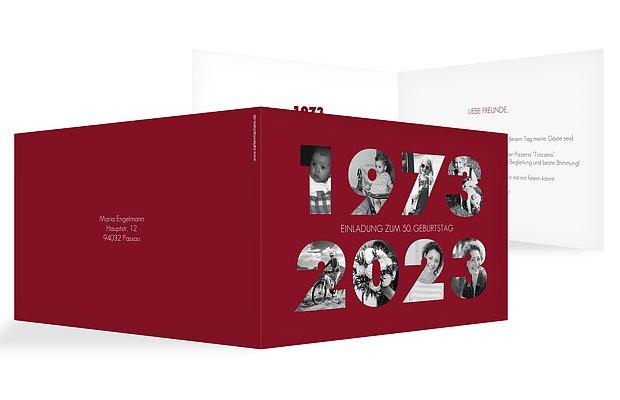 """Einladungskarten Zum 50 Geburtstag Einladungskarten Zum: Einladungskarten 50. Geburtstag """"Jahreszahl"""""""