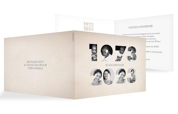 invitation anniversaire 50 1969-2019