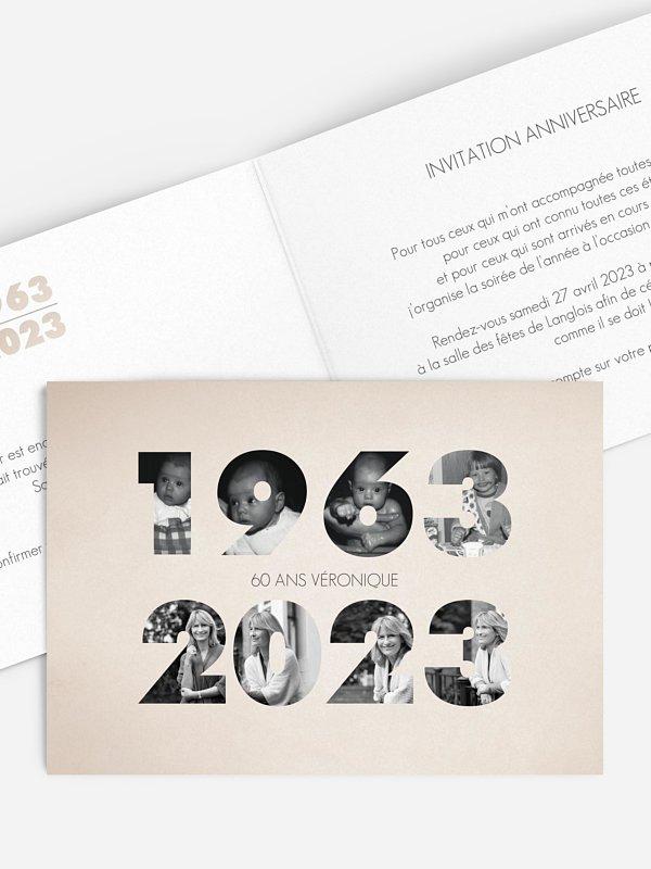 Invitation Anniversaire 60 1961 2021