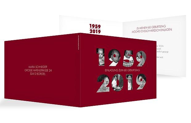 Einladung 60. Geburtstag Jahreszahl
