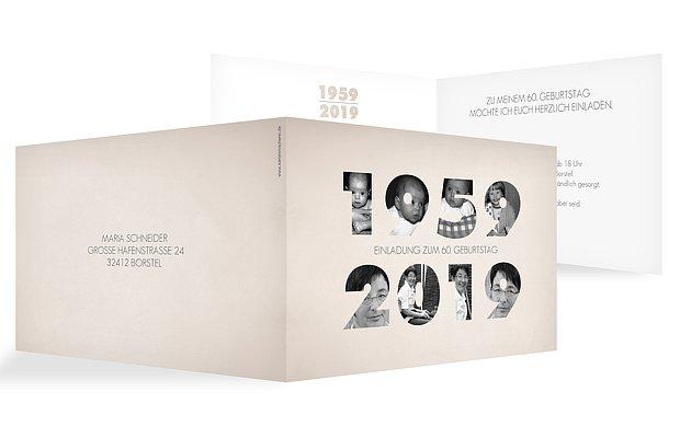 """Einladungskarten Zum 60 Geburtstag: Einladungskarten 60. Geburtstag """"Jahreszahl"""""""