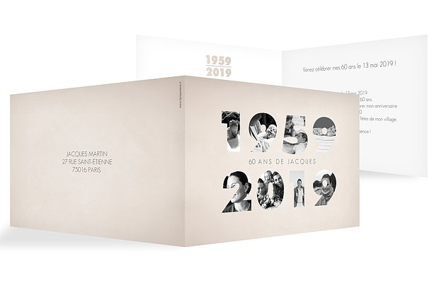 invitation anniversaire 60 1959-2019