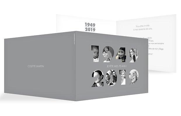invitation anniversaire 70 1949-2019
