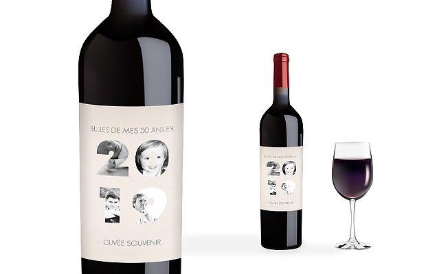 Étiquette pour bouteille 2019