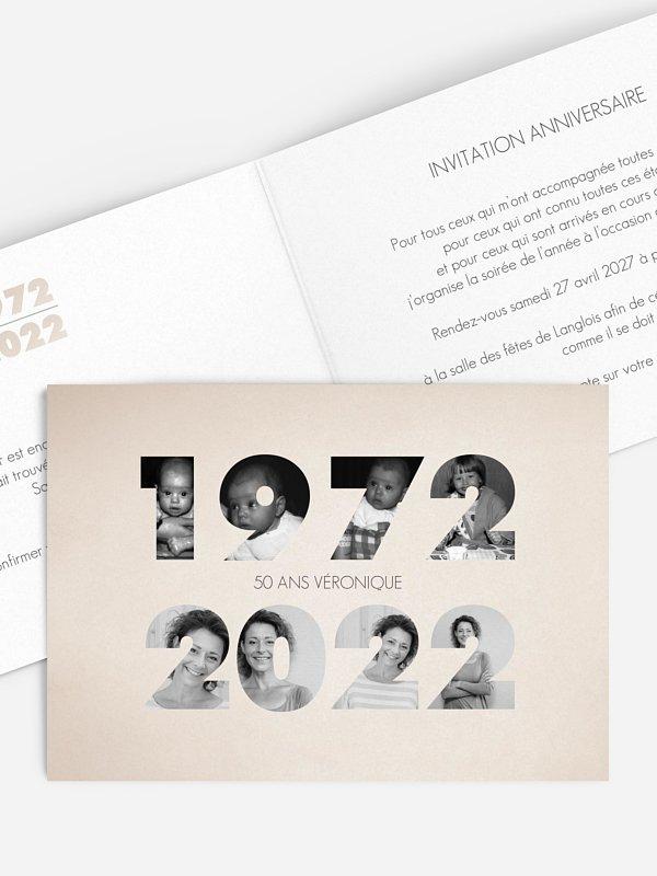 invitation anniversaire 50 1970-2020