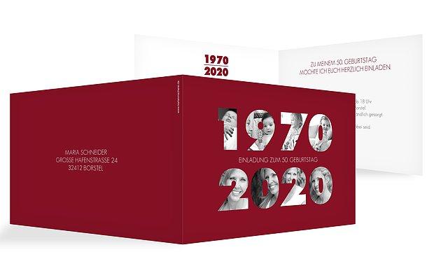 Einladungskarten 50 Geburtstag Jahreszahlen