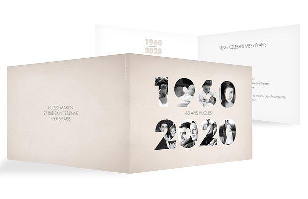 invitation anniversaire 60 1958-2018