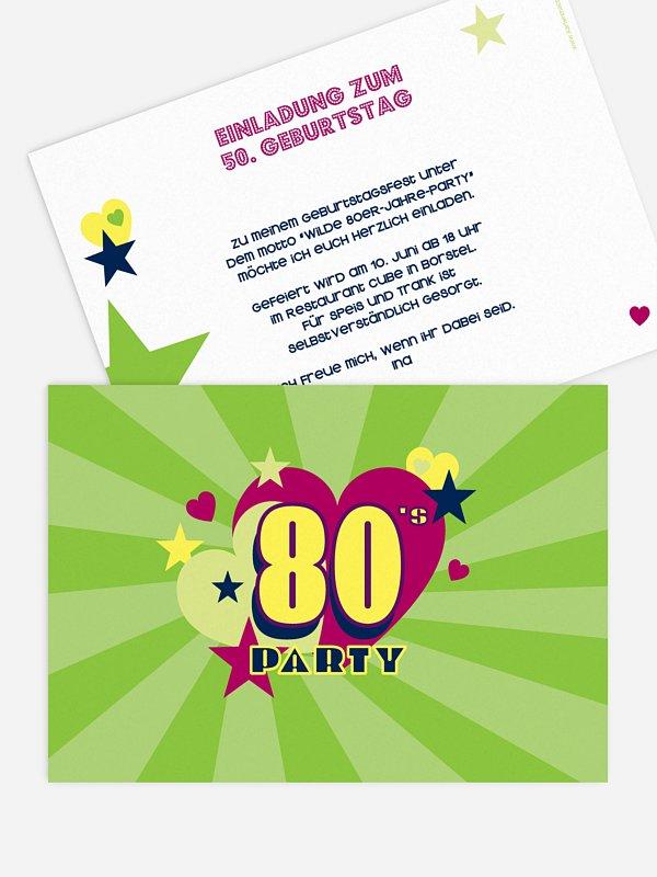Einladung 50. Geburtstag Eighties Forever