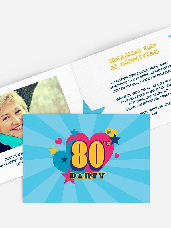 Einladung 60. Geburtstag Eighties Forever