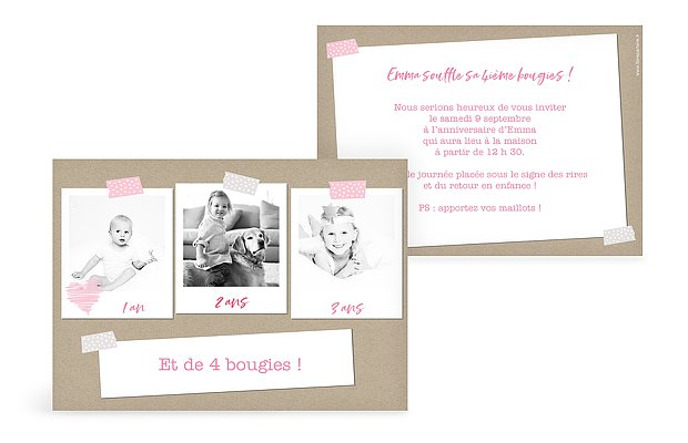 invitation anniversaire enfant First moments