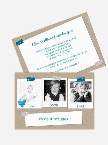 Cartes D Invitation Anniversaire Enfant Personnalisable