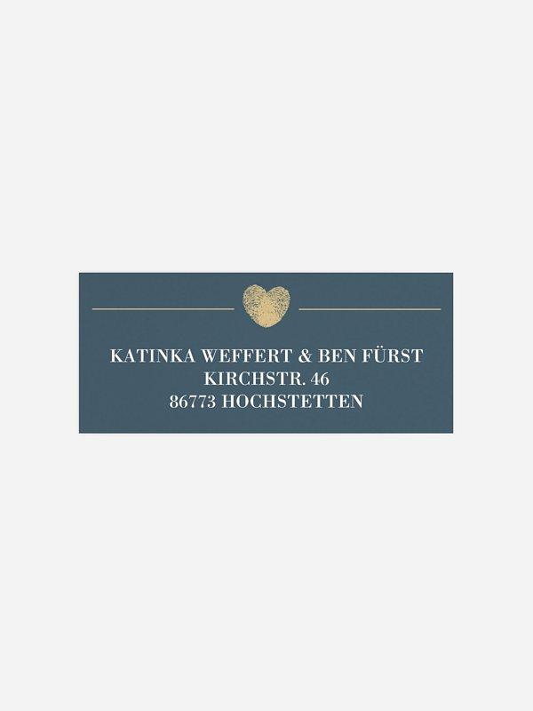 Absenderaufkleber Hochzeit Loveprint