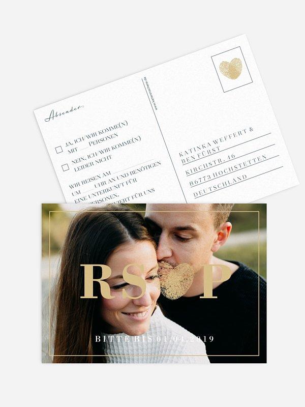 Antwortkarte Hochzeit Loveprint