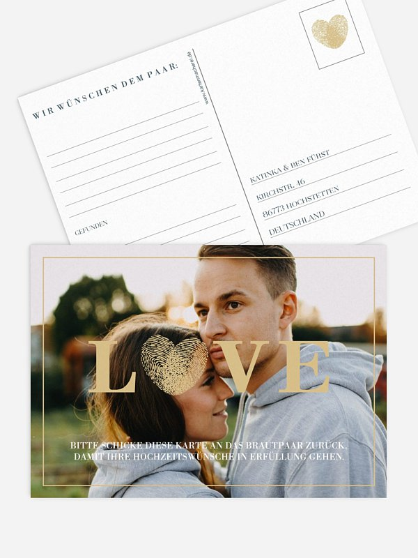 Ballonkarte Hochzeit Loveprint