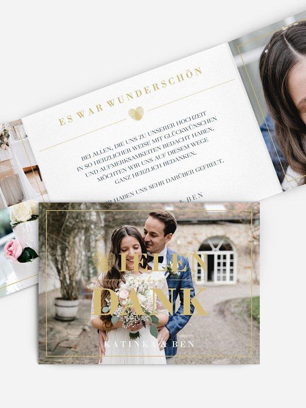 Dankeskarte Hochzeit Loveprint