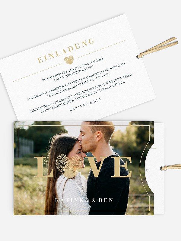 Hochzeitseinladung Loveprint