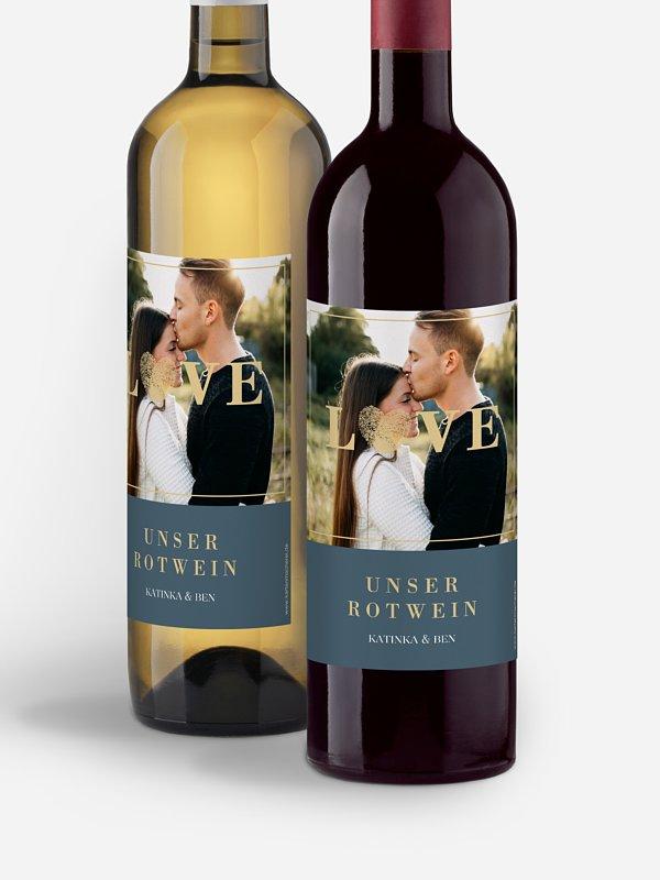 Flaschenetikett Hochzeit Loveprint