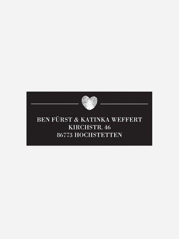 Absenderaufkleber Hochzeit Loveprint Premium