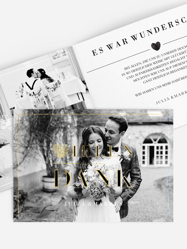 Dankeskarte Hochzeit Loveprint Premium